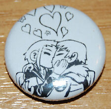SCOTT PILGRIM SCOTT AND RAMONA CUTE KISS 25MM BADGE SWEET LOVE