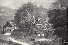 Antique print Indonesia bridge Lolo  West Sumatra VOC Indonesië
