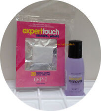 * OPI EXPERT TOUCH Gel Polish Remover Soak Off SET 1oz - 30ml + Wraps 20ct NEW