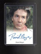 James Bond 50th Anniversary David Meyer auto card