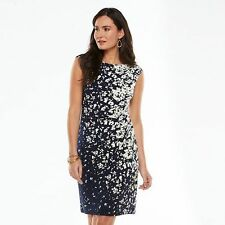 Brand NEW Chaps Splatter Pleated Sheath Dress - Women's - NWT + Free Shipping