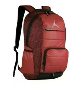 NIKE AIR JORDAN Last Dance Backpack Gym Red Black Elephant Print 9A1640-RK2 NEW!