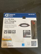 Commercial Electric 4in. New Construction&Remodel Recessed Integrated LED Kit