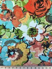 """Indoor/Outdoor Canvas Rainbow Flower Bloom Fabric BTY 55"""" Wide By Mill Creek"""