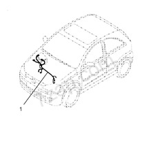 GENUINE VAUXHALL CORSA-C (HATCH,VAN) (F08,F68) ENGINE WIRING HARNESS 55353056