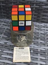 Fab Vintage Ideal 1980s Original Rubiks Cube Rubix w/Case Lid & Instructions