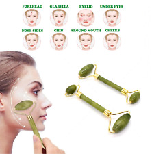 Jade Face Massage Roller Beauty Tool Facial Neck Eye  Body Anti Ageing Therapy