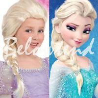 Cosplay hair long Curly hair Cap wig Gift Frozen Queen Elsa Anna Long Anime Wigs