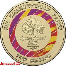 2018 UNC $2 Coin Commonwealth Games Week 1 Red 2018 Two Dollar Coloured Coin