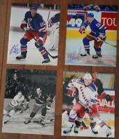 Lot of 4 Autographed NY Rangers 8x10 Photos  Howell Erixon Nemchinov Anisimov