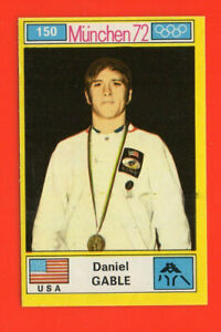 1972 ROOKIE STICKER Daniel GABLE U.S.A MUNCHEN 72 OLYMPIC GAMES #150  SEE PHOTO!