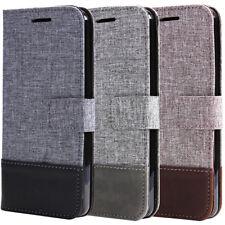 For LG G6 / G5 Shockproof Rugged Rubber Defender Leather Wallet Stand Flip Case
