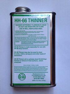 1 US Pint 473ml Thinner for HH66 HH-66 Vinyl Adhesive Lay-z-spa Hot Tub Lazy Spa