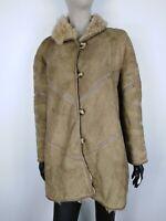 SHEARLING MONTONE SHEEPSKIN Cappotto Giubbotto Giacca Jacket  Tg 44 Donna
