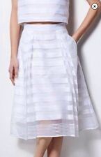 MILLY for DesigNation SKIRT Size: SMALL Striped Organza Midi NEW FREE SHIPPING