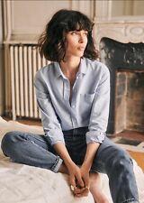 Sezane Tomboy Shirt - Blue- Size 36