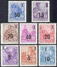 Germania 1954 lavoratori/spedizione Building/Iron Works/industria/maggiorazioni Set 8v (n44394)