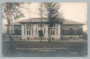 Purdue University Gym RPPC Antique Lafayette Indiana CR Childs Photo PC 1915