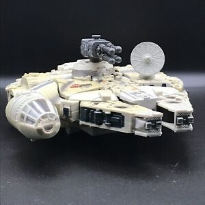 Star Wars Millenium Falcon Transformers Figure Lights Sound Hasbro 2006 Damaged