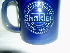 """Shaklee Coffee Cup Mug """"The Name That's The Stamp Of Quality"""" 1983 Cobalt Blue"""