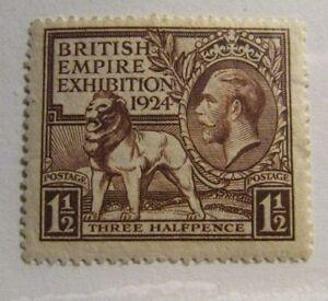 GREAT BRITAIN Scott #186 * MH stamp, British Empire Expo.  fine + 102 card