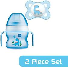 MAM STARTER CUP 150ML WITH 0+ SOOTHER - BLUE Baby Infant Dummies BN