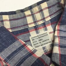 J CREW  AUTHENTIC Workwear Button up Plaid multi color CASUAL SHIRT Small
