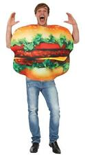 ADULT BURGER CHEESEBURGER Comedy Food Stag Night Fancy Dress Costume Outfit C247