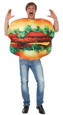 Adult Cheeseburger Hamburger Food Fancy Dress Costume Ladies Burger Mens Unisex Standard