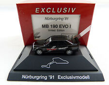 "MB 190 EVO I ""nurburgring 91 exclusivmodell"" Herpa PC vitrina 1:87 h0 OVP [k1]"