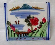 Antico OPPIO IN PORCELLANA CINESE Cuscino poggiatesta in ceramica dipinto a mano