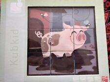 Kubkid Farm Animal Puzzle Blocks 6 Illustrations 18 months +