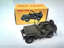 DINKY TOYS ATLAS- JEEP HOTCHKISS WILLYS - MILITAIRE NOREV VOITURE MINIATURE 80B