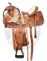 Y&Z Enterprises Western Premium Leather Western Racing Horse Saddle 10-12 Seat
