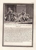 Gravure XVIIIe Louis le Gros Philippe Ier Bertrade de Montfort Explication