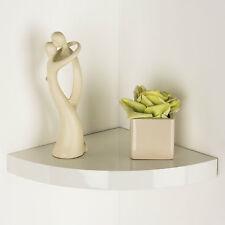 Capri Floating Corner Shelves White Gloss Black Wood Oak Effect Modern