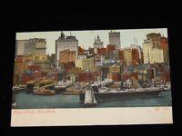 Vintage Postcard,NEW YORK CITY, NY, Riverfront & Skyline 1907,To Springfield, MA