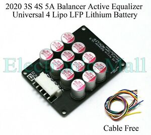 3S 4S 5A Balancer Active Equalizer Universal 4 Lipo LFP Lithium Cells Pack