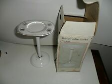 Gatco Brush/Tumbler Holder Solid Brass-White Finish - 1456