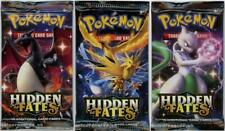 Pokemon TCG: Hidden Fates 3 Booster Packs - Various Designs - Brand New And Seal
