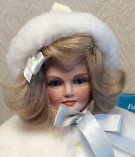 """16� """"Holly� Porcelain Doll Fawn Zeller Ist Us Historical Society Doll w/Book"""