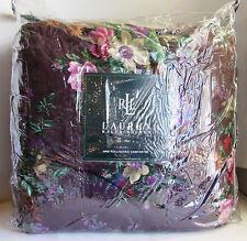 Ralph Lauren BRITTANY FLORAL Comforter Full/Queen, Burgundy Eggplant HTF BNWT