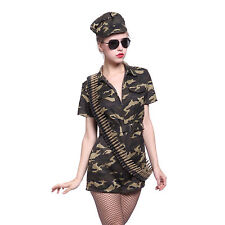 517e6386c7ad Sexy US Army Defence Force Military Camouflage Uniform Jumpsuit Cosplay  Outfit