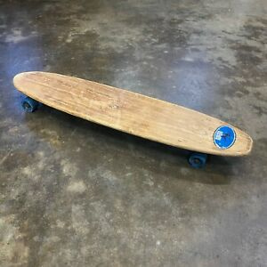 "Vintage 1960's Makaha Sidewalk Skateboard 29"" Blue Wheels"