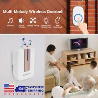 LED 4 Volume 1000FT Wireless Doorbell Chime [1 Plugin Receiver + 1 Transmitter]*