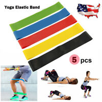 5 in1 Workout Resistance Bands Loop CrossFit Fitness Yoga Body Leg Exercise Band