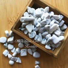 Tumbled Gemstone Crystal Chipstones Howlite White Turquoise 5g Birthstone