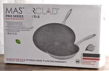 """NEW Masterclad Pro Series 12"""" + 8"""" Fry Pan Set 5-Ply Stainless Steel Oven Safe"""