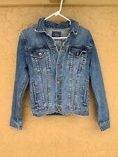 Topman / topshop men's blue denim jacket 100 percent cotton US size Small