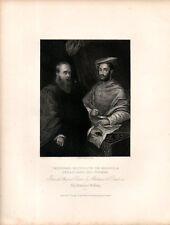 Stampa antica CARDINALE IPPOLITO DE MEDICI SEBASTIANO del PIOMBO 1840 Old print